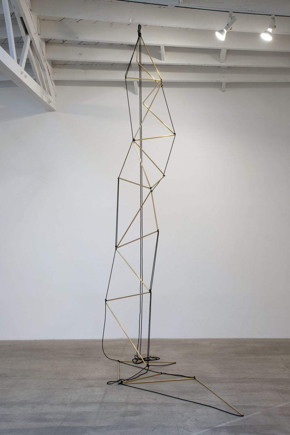 Leonor Antunes,  Chain of Triangles (fron St. Saturnin to Rodez) , 2010