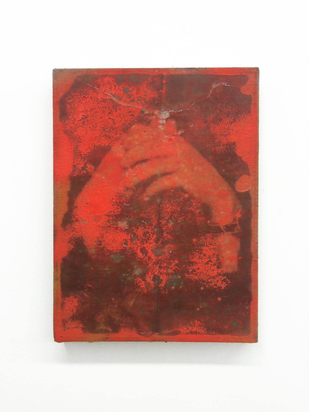 JPW3, G.H., 2015 spray paint, ink wax transfer