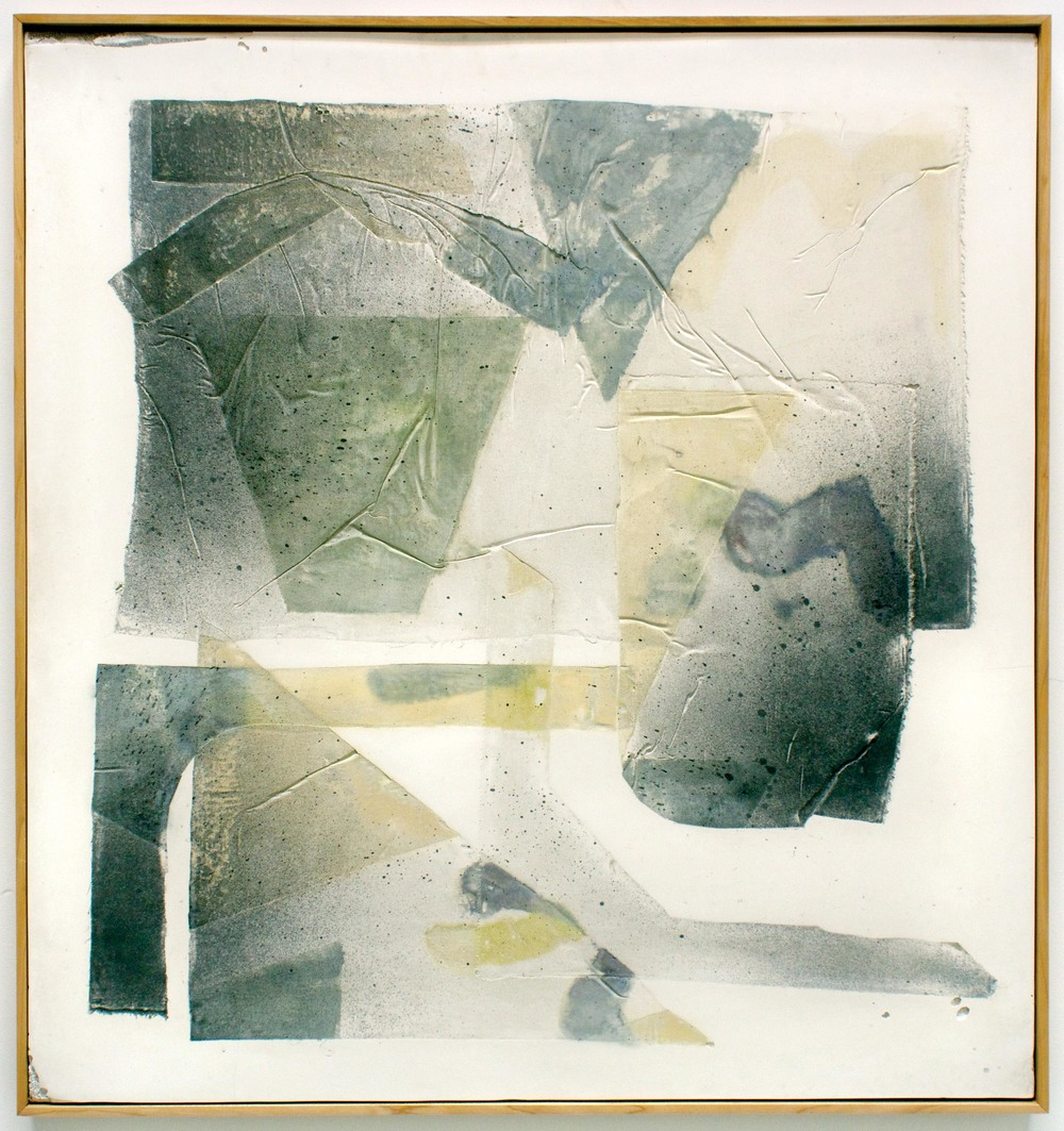 Erin Morrison, Structures (No. 1), 2015  ink and wax on hydrocal in maple artist frame
