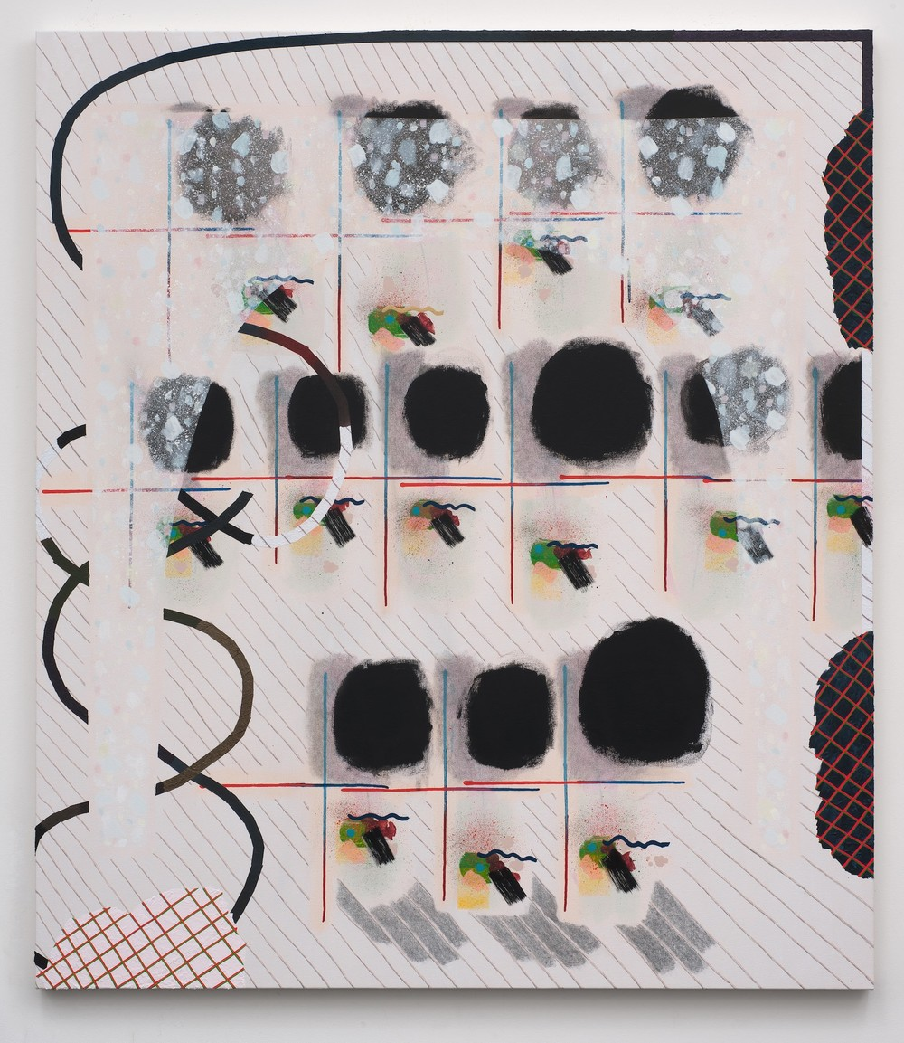 Allison Miller - Calendar - 2014 - Acrylic, Pencil and Modeling paste on Canvas - 60 x 52.25""