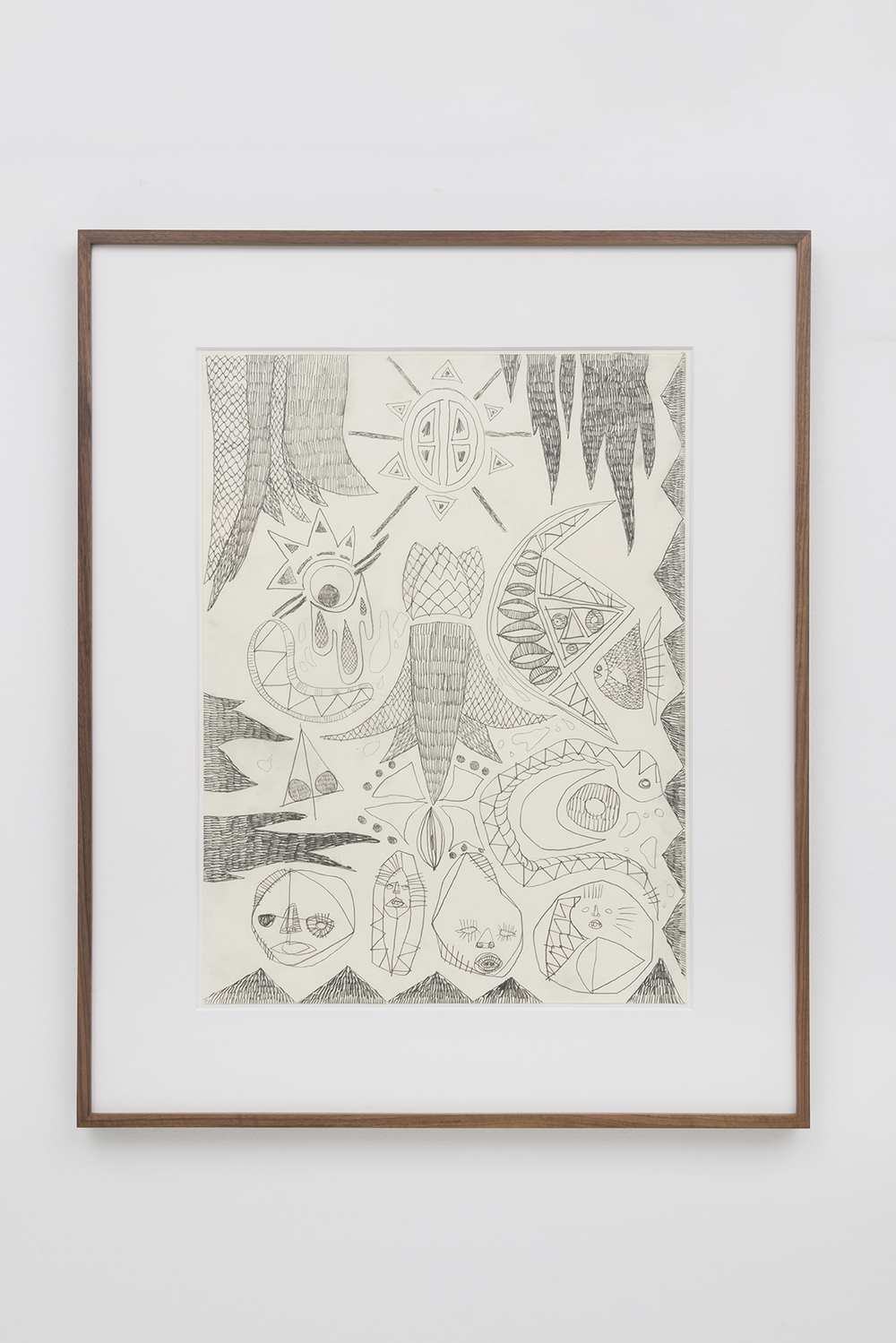 "Adam D. Miller - Stoneman Psycho Scape - 2016 - Graphite on Paper - 18 x 24"" drawing, 32 1/4 x 26 1/4"" Matted and Framed"