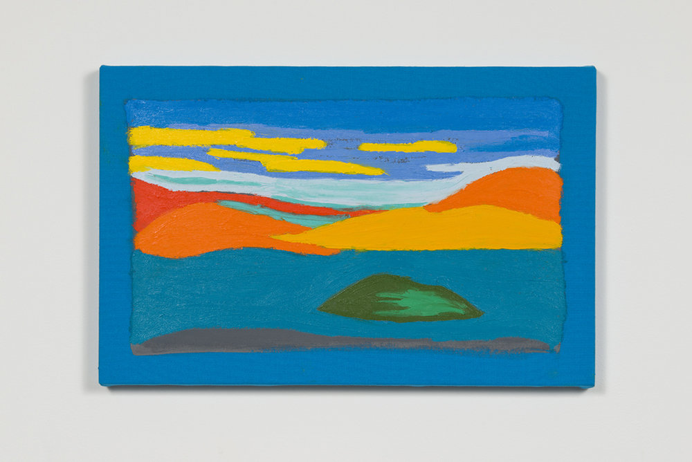 Stanya Kahn, Land (Sea), Oil on canvas, 13.75 x 21.5""