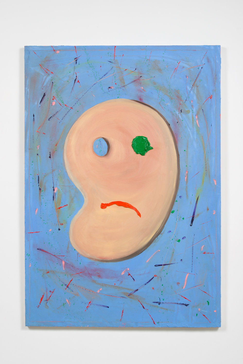 Country Sad Palette Man, 2017  Oil on canvas  66 x 46 x 1.5 inches