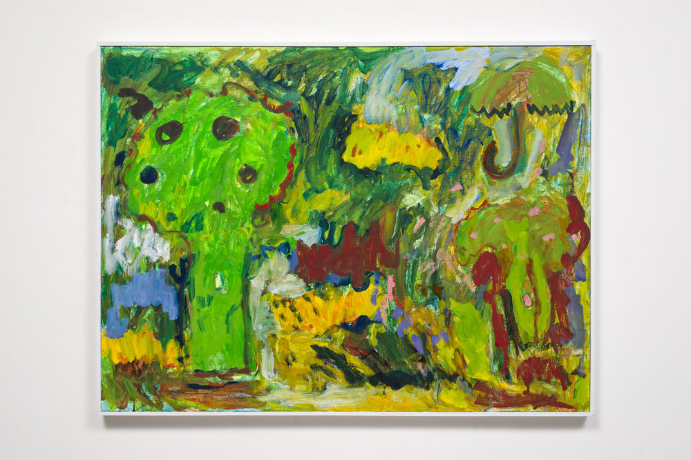 Broccoli Landscape in Green 2017  Oil on panel   30 x 40""