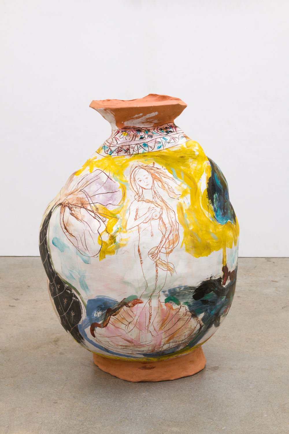 Venus, Shells, Flowers, 2018  Glazed ceramic  17 x 26 1/2 x 23 inches