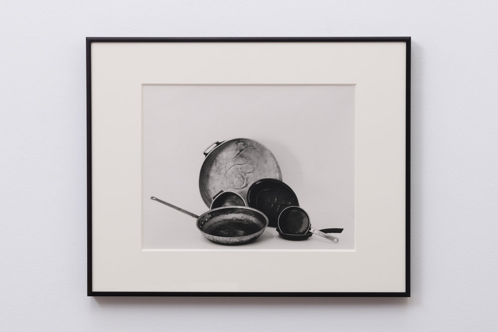 A Hand of Pots and Pans, 2018  Fiber print matted and framed  16.5 x 20.5 x 1 inches