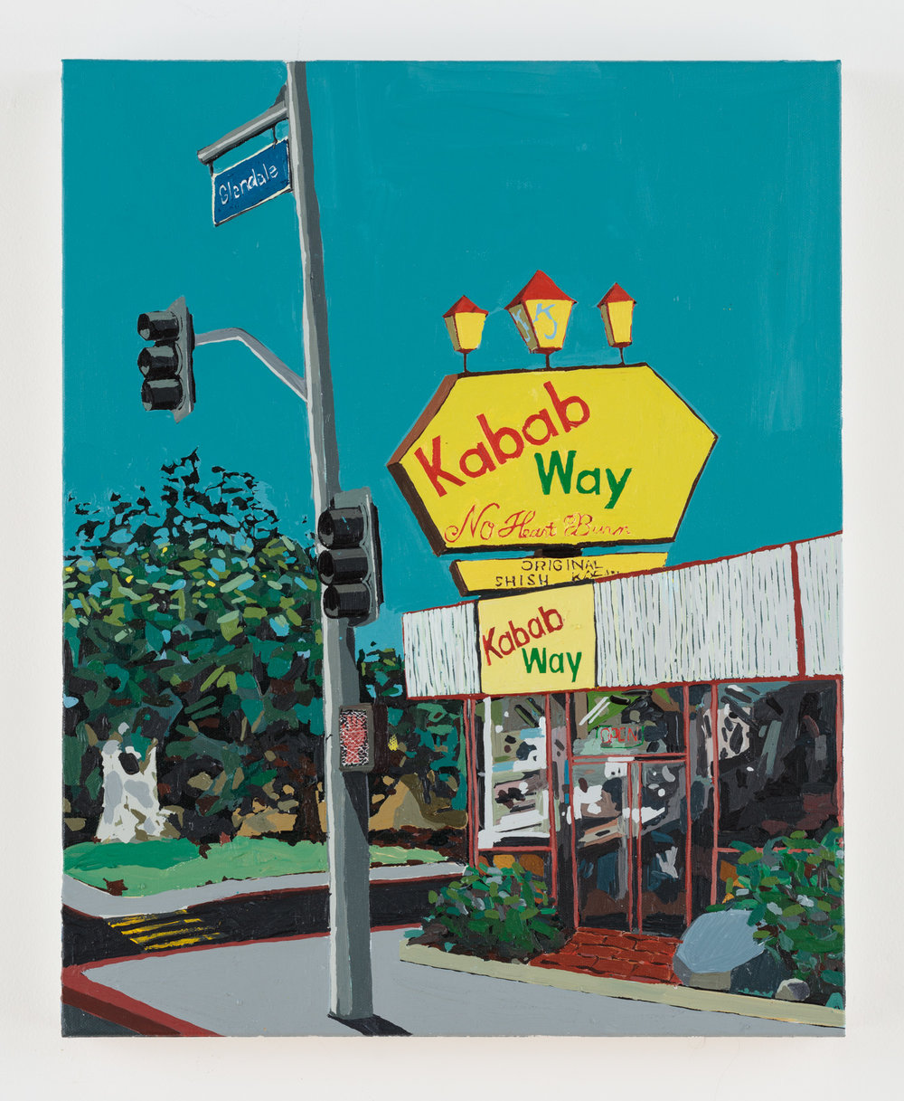 Glendale Boulevard,  2018  acrylic on canvas  20 x 16 inches
