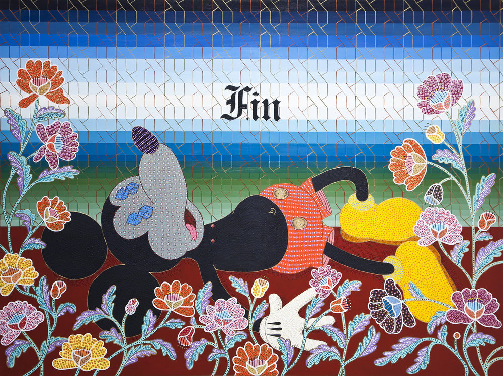 """FIn"" by Jaime ""Flan"" Munoz is featured in the show ""How to Read El Pato Pascual: Disney's Latin America and Latin America's Disney"" at the MAK Center for Art & Architecture at the Schindler House in Los Angeles. 