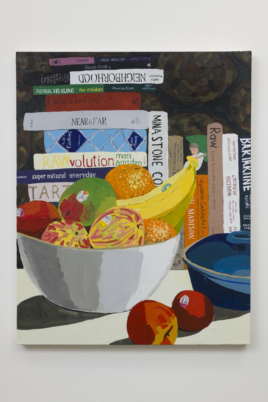 Hilary Pecis  Fruit Bowl, 2018  Acrylic on canvas  30.5 x 24 inches