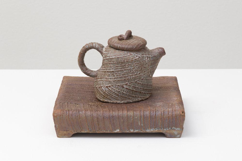 "Ching Yuan Chang  Untitled, 2018  Glazed ceramic  5.5 x 7 x 7"""