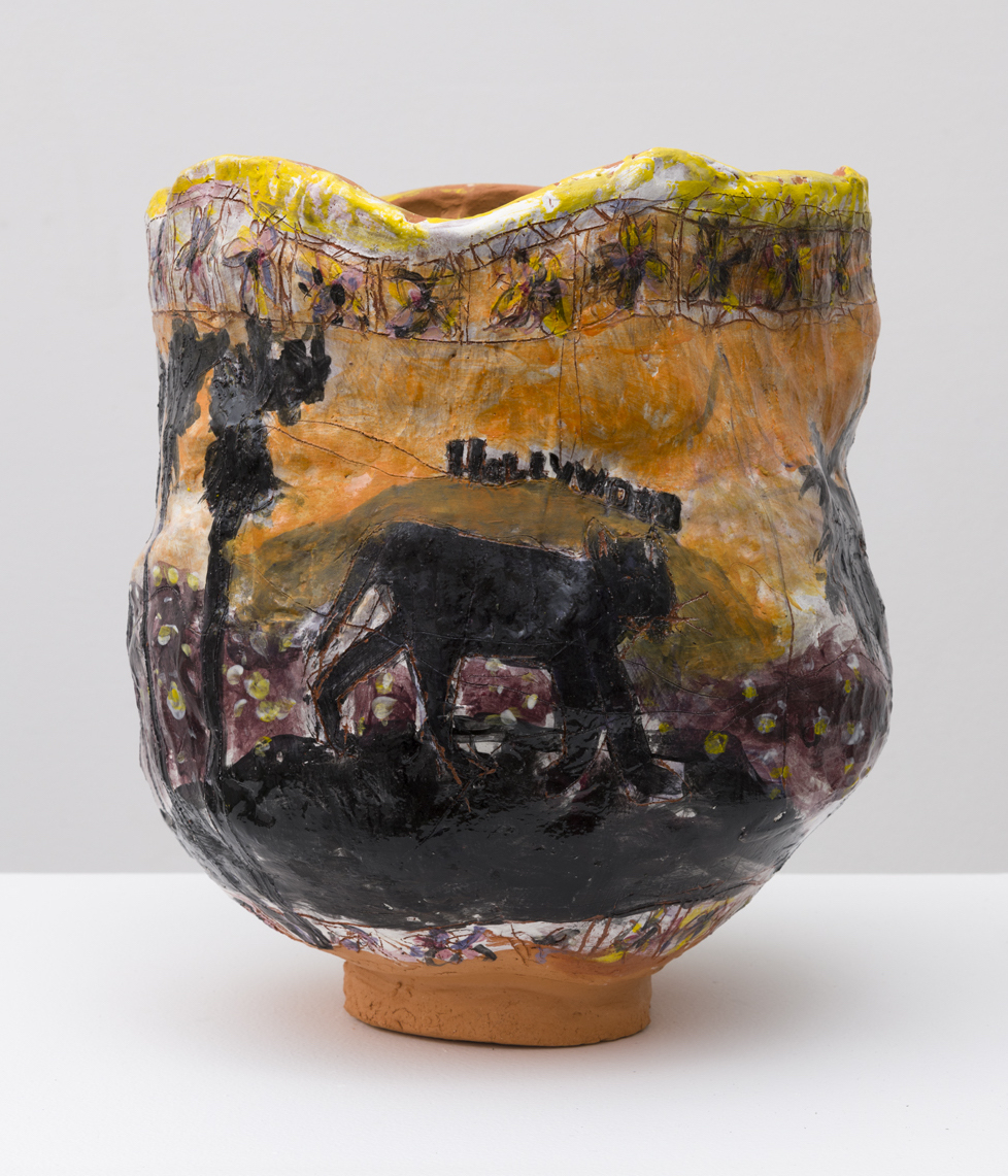 Sunset , 2018  glazed ceramic  12 x 13 x 11 inches