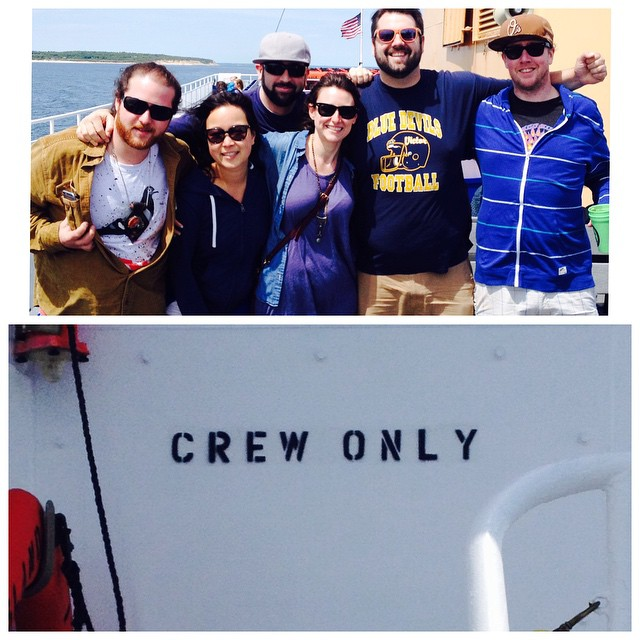 The crew is assembling. #boxisland2015 begins!! #blockisland
