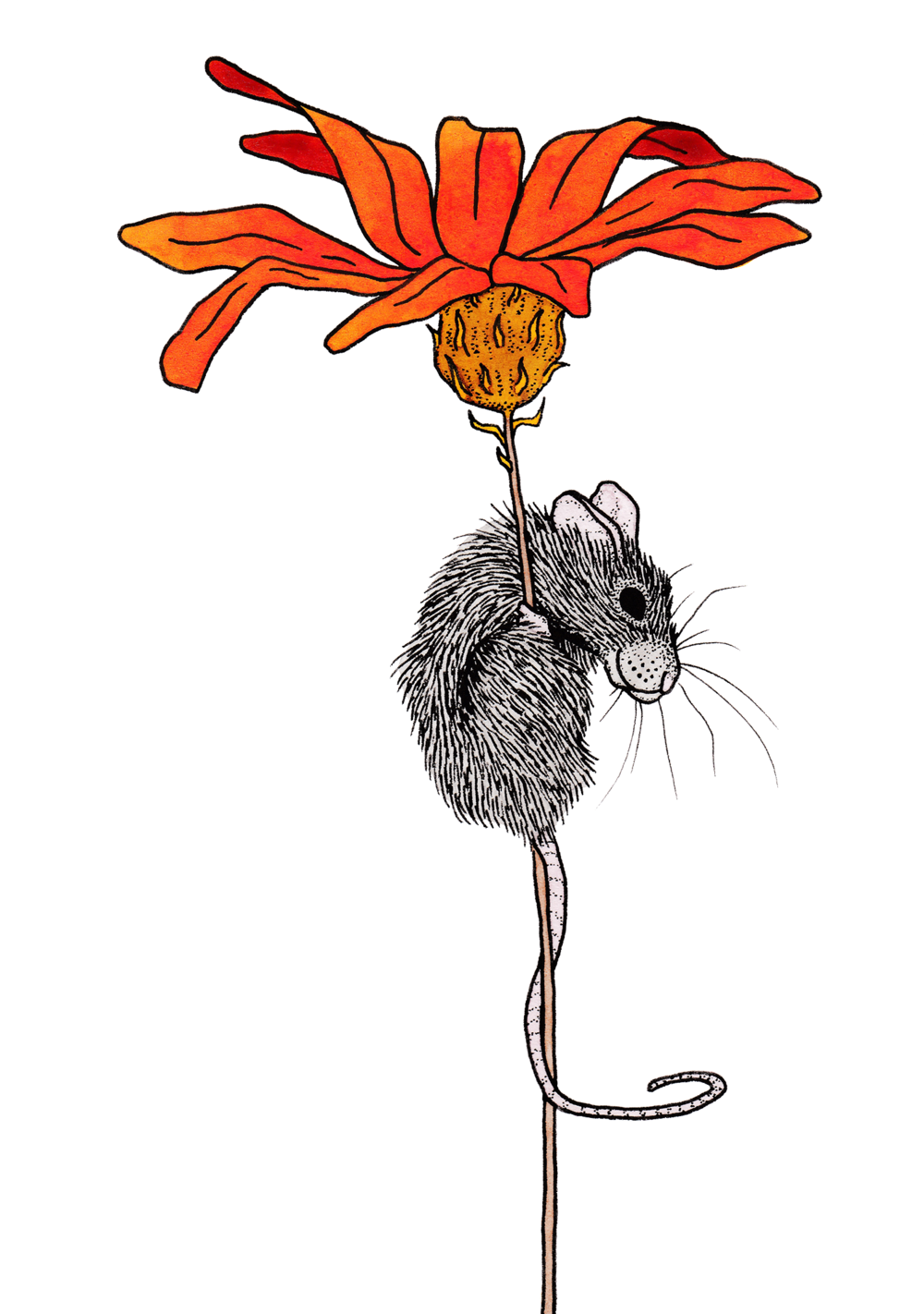 Mouse + Flower