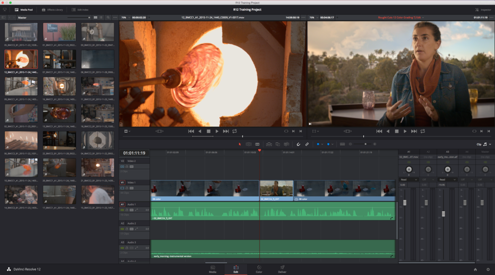 DaVinci Resolve 12 Edit page