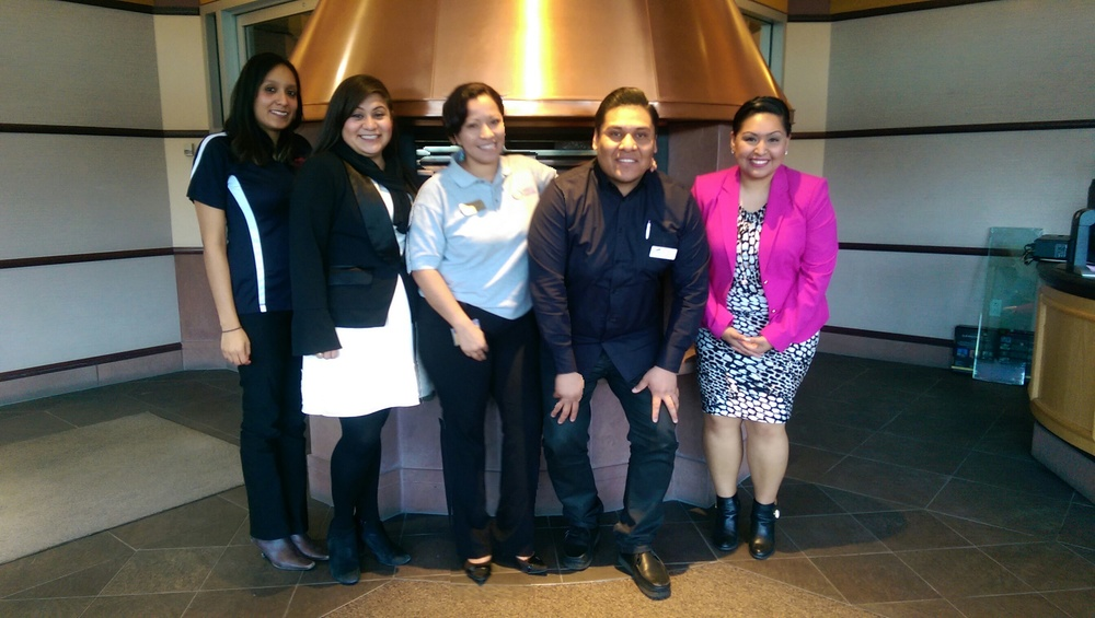 Tuesday, January 20, 2015 volunteers, left to right: Veronica Estrada, Ana Ramirez, Julia Montijo, Rigo Rangel and Christian Gonzalez answered financial aid questions from our Latino community at Telemundo, in promotion of College Goal Colorado 2015.