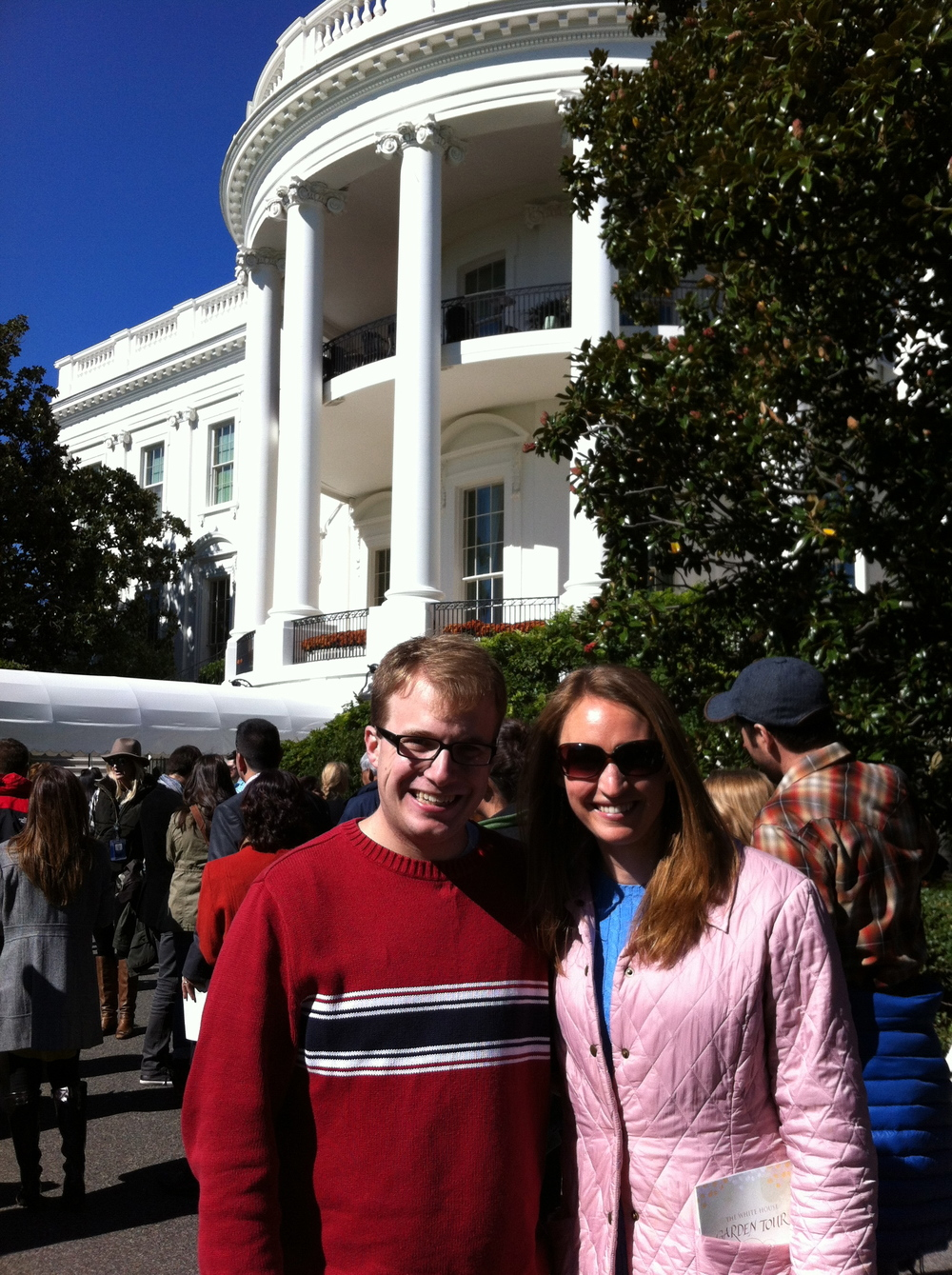 Hanging out at the White House Gardens.