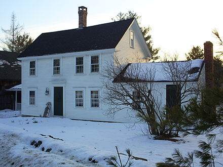 "Birthplace of Sam Foss in   Candia, New Hampshire  : the original ""House by the Side of the Road"""