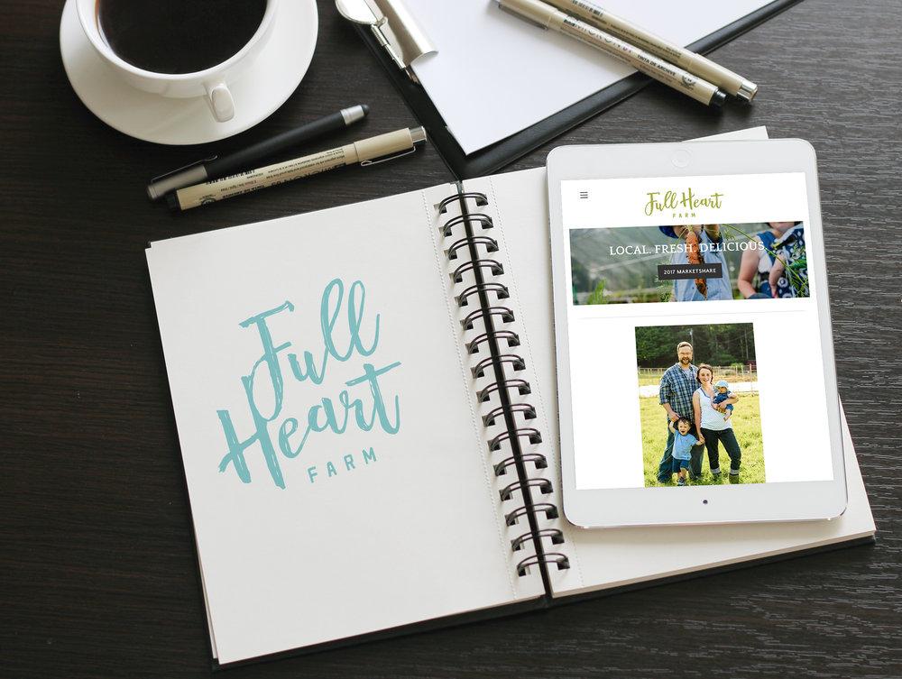 full heart farm branding design