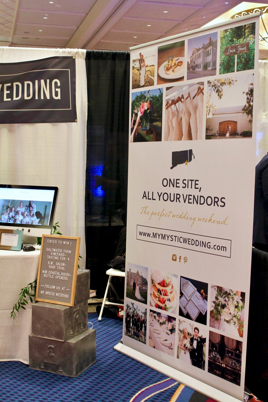 my mystic wedding tradeshow booth