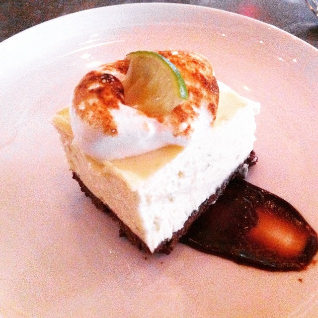 Key lime #cheesecake brownie from the #restaurantweeksa menu @arcadesatx #eatdrinkgive