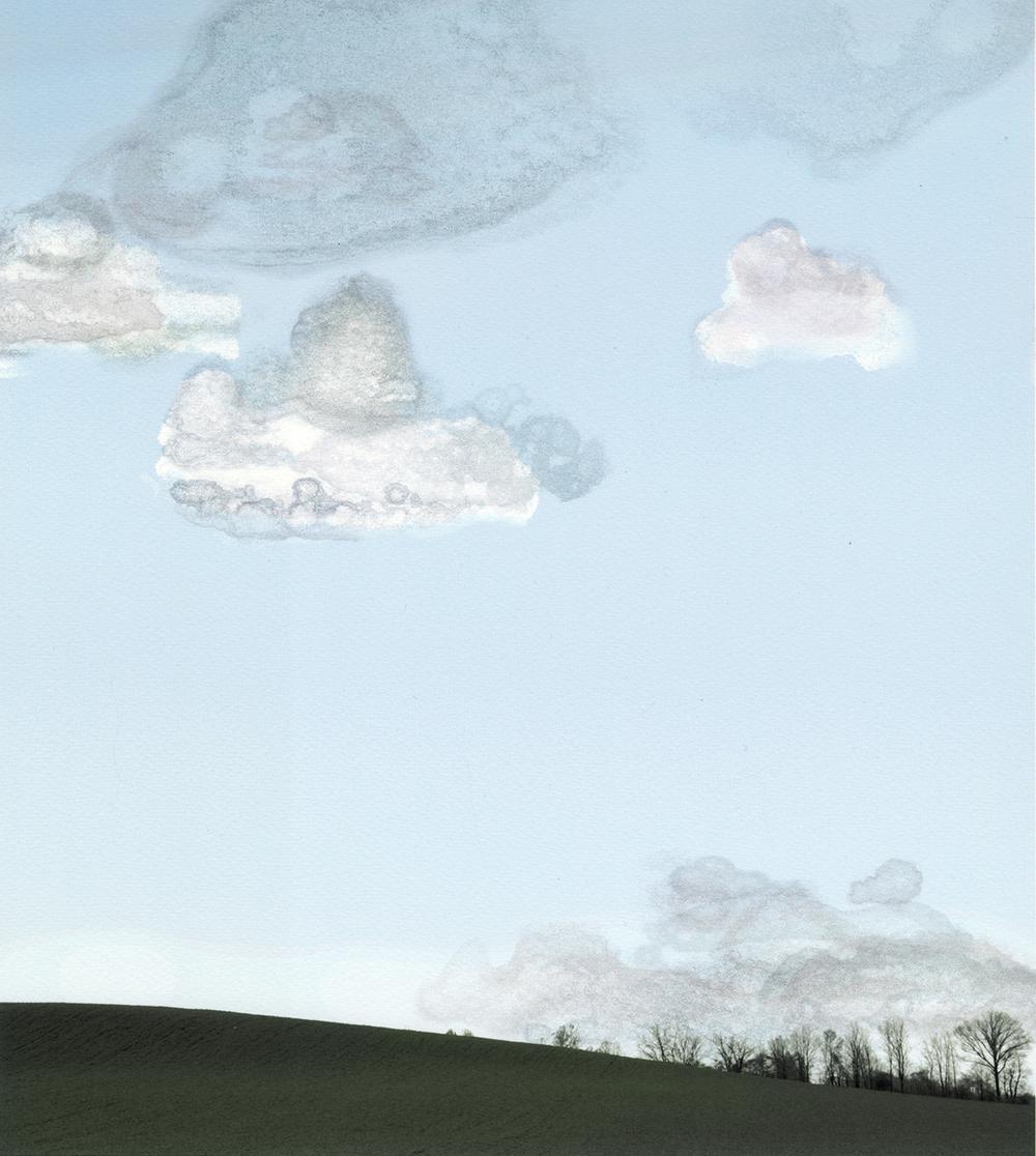 "Cumulus no. 2 • Iris print • 14"" x 16.25"""