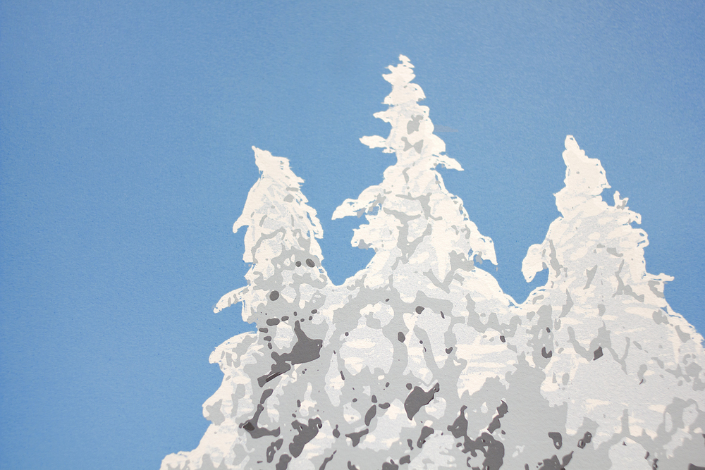 Detail of Snowy Pines