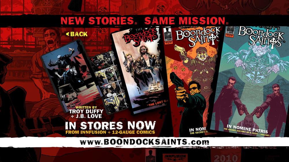 Boondock Saints Comics Promo Screen