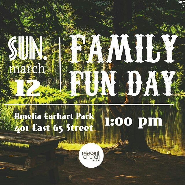 Happening this Sunday people! We hope to see you all there!  #miami #hialeah #relevantmia #relevantchurchmiami #jesus #church #family #familyfunday