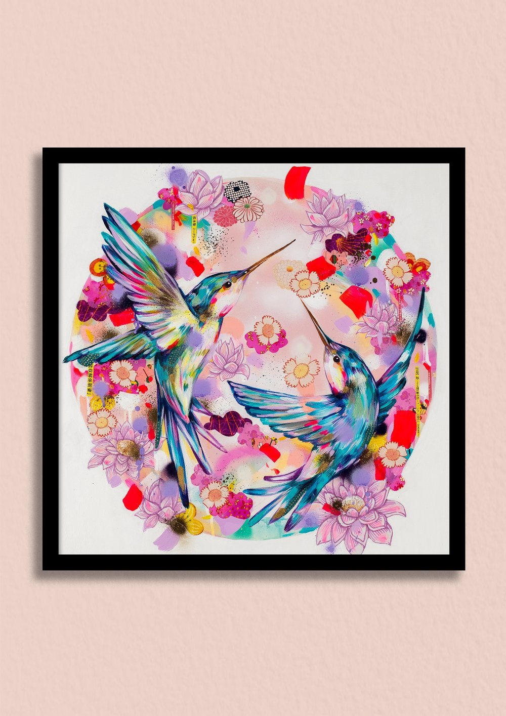 OSAKA SUNRISE - Wake up to the beautiful glow of a Japanese sunrise, with this spectacular hummingbird print.Unframed giclée print £150Framed giclée print £220