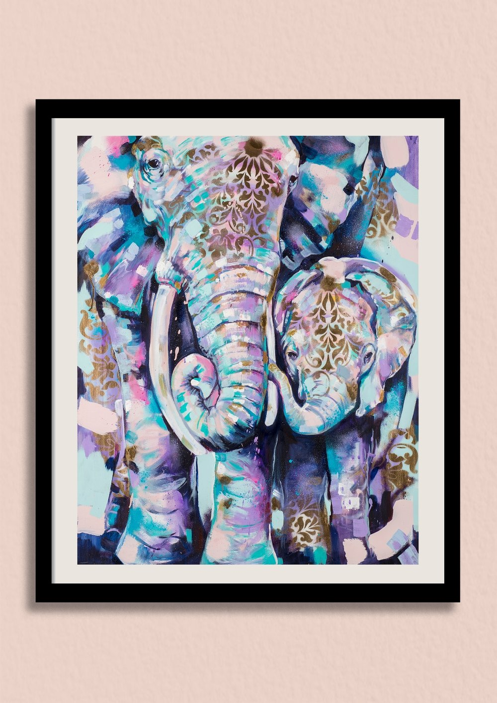DEFEND - Sian Storey's most popular elephant artwork, available beautifully framed for the first time.Unframed giclée print £150Framed giclée print £220