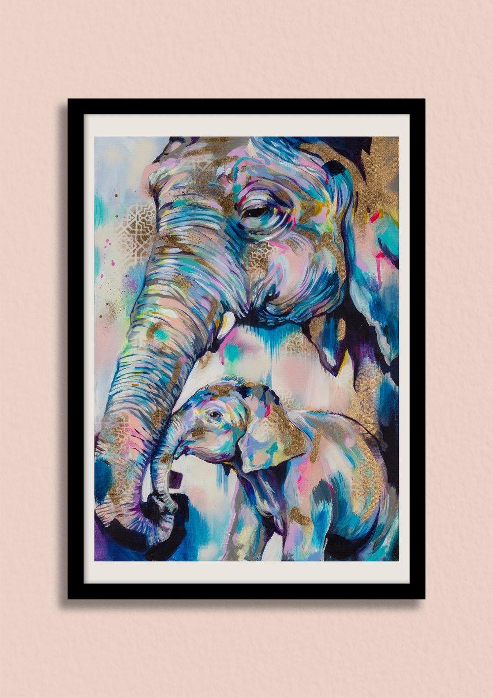 'HOLD ON' - Print£150 unframed, £220 framed