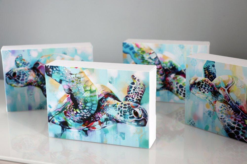SET OF 4 TURTLE CANVAS PRINTS - Canvas prints£140