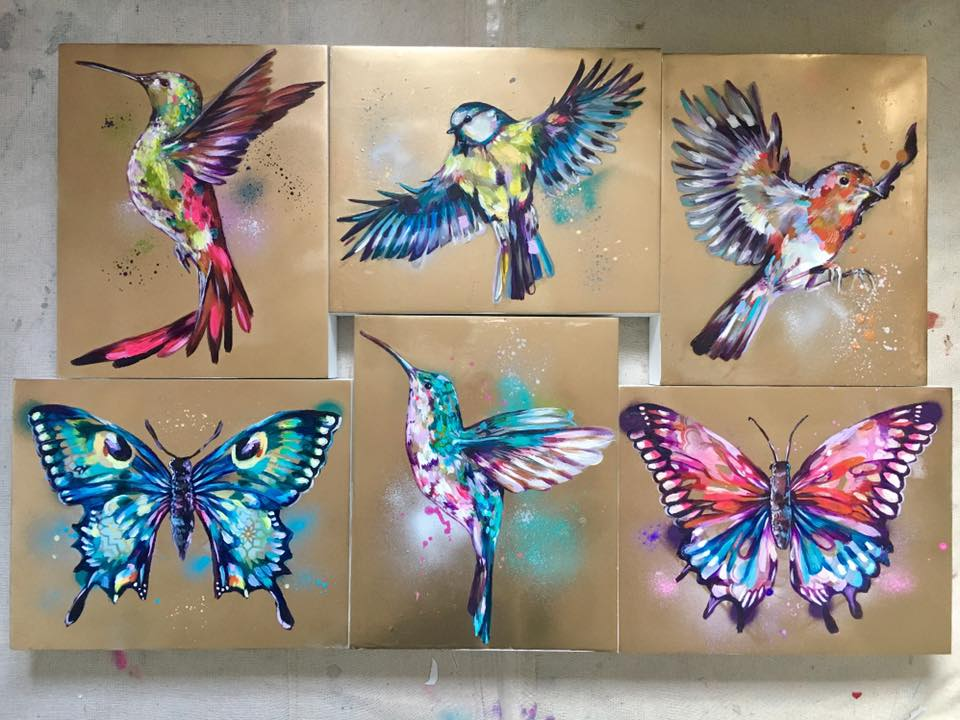 'AUROUS COLLECTION' - 6 golden paintings, £220 each