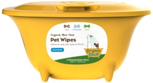 Organic pet wipes