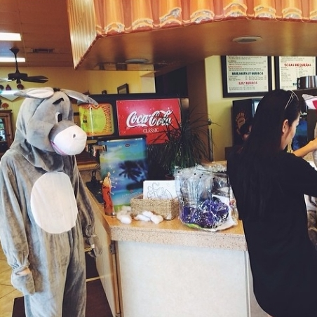 Behind the scenes. #someburros #videoshoot #mascot #burro #awecollective