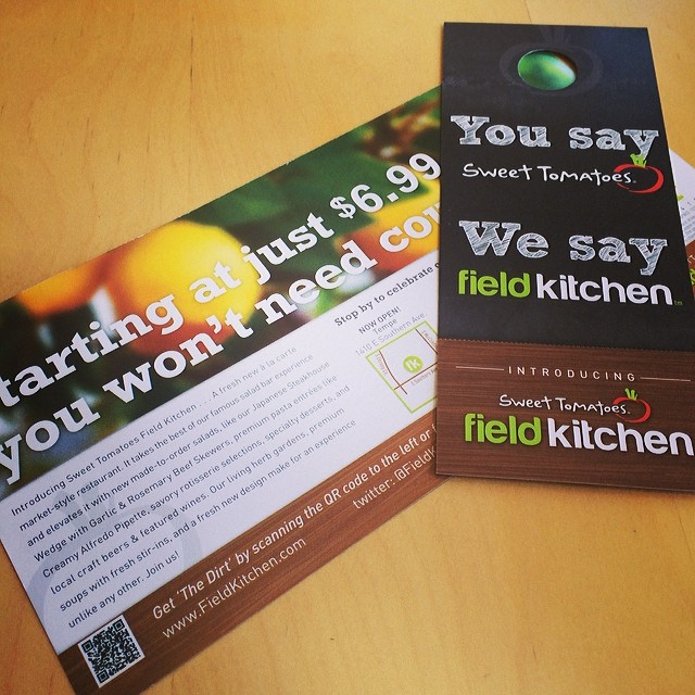 #TBT to our direct mail pieces we did for Field Kitchen.