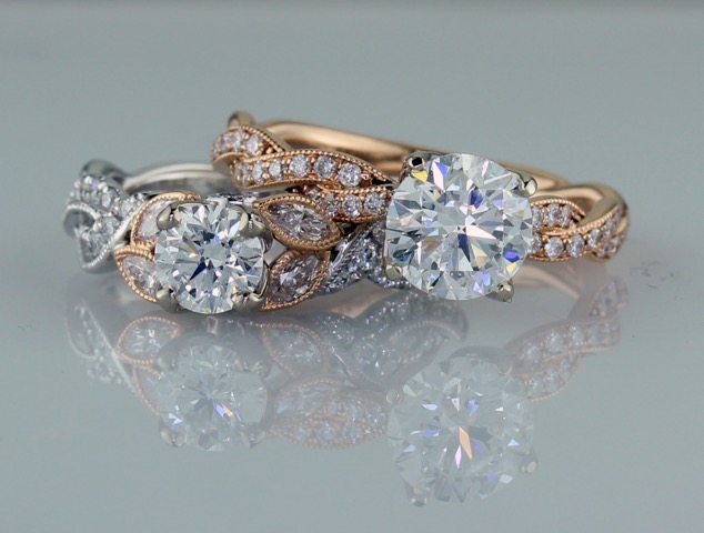 Parade Designs Rose Gold Engagement Rings from D.J. Bitzan Jewelers
