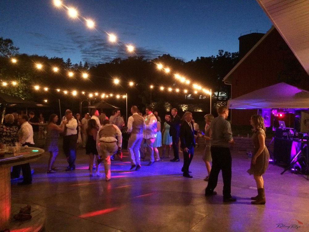 Outdoor Dance at Rolling Ridge Wedding & Event Center