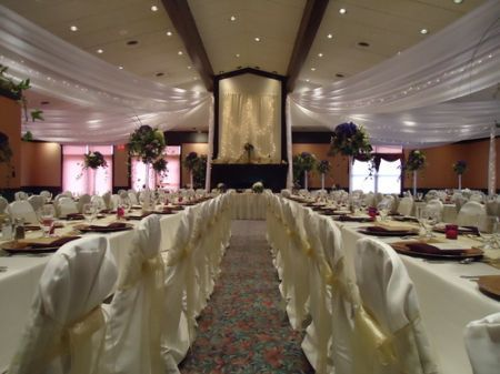 Indoor Wedding Reception at Eagle Trace Golf & Event Center