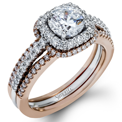 This Simon G. engagement ring from J.F. Kruse Jewelers gets lots of attention!