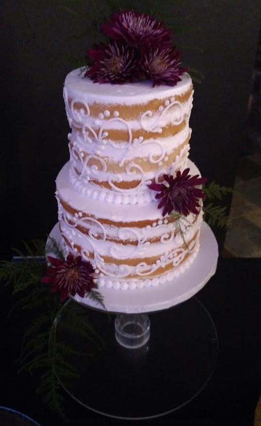 Naked Wedding Cake by Cold Spring Bakery