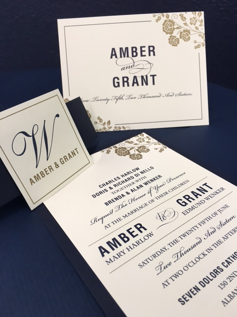Custom Wedding Invitation by Rengel Printing Company