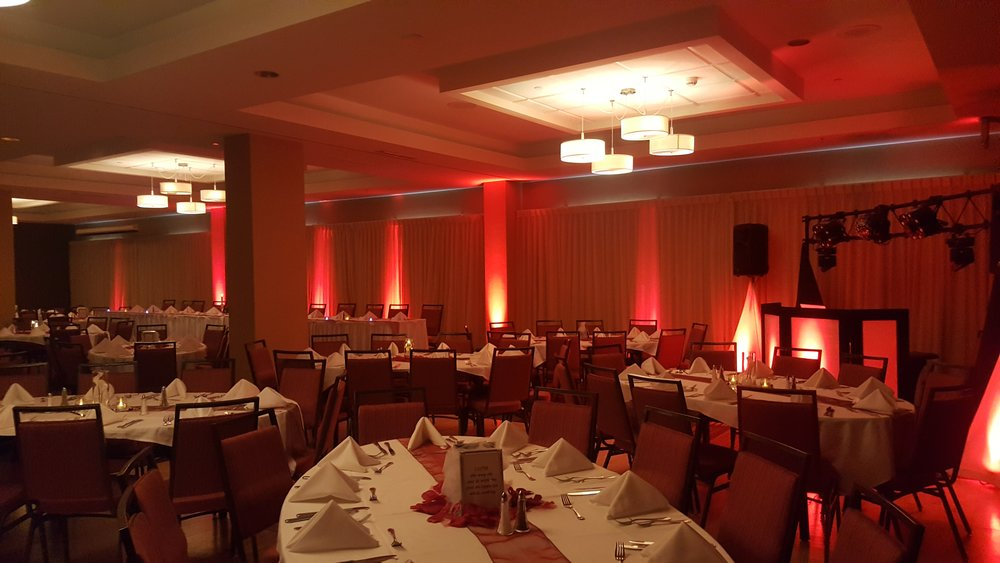Uplighting by Impressions Mobile Music at the Courtyard by Marriott in downtown St. Cloud
