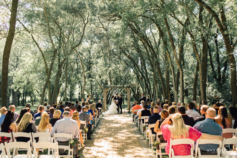 Ceremony taking place in the Natural Cathedral