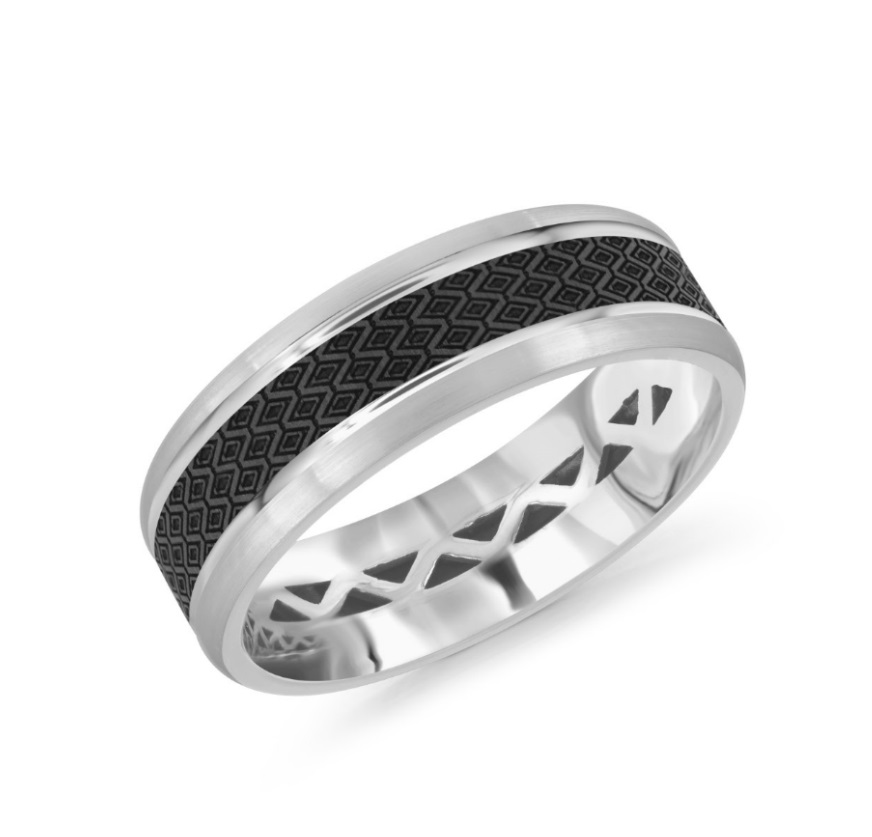 Men want something different and unique too! Check out the incredible collection that features carbon fiber inlaid at the center of the ring