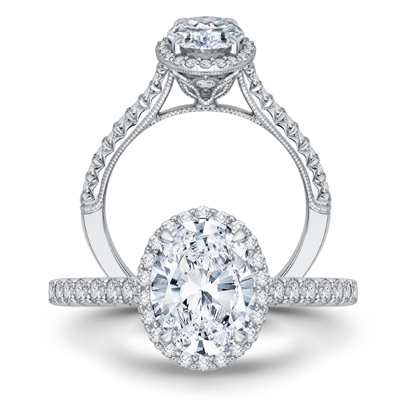 Oval and pear shape diamonds are an exciting alternative to the more classic round style