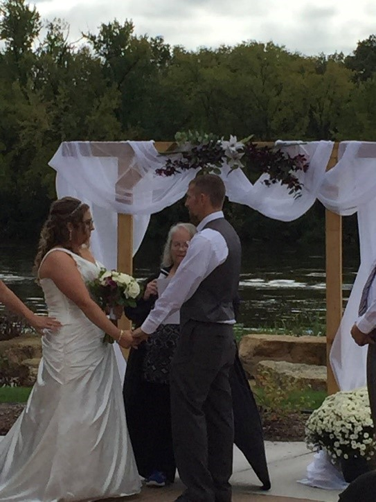 Uniting a beautiful couple at the River's Edge Commons