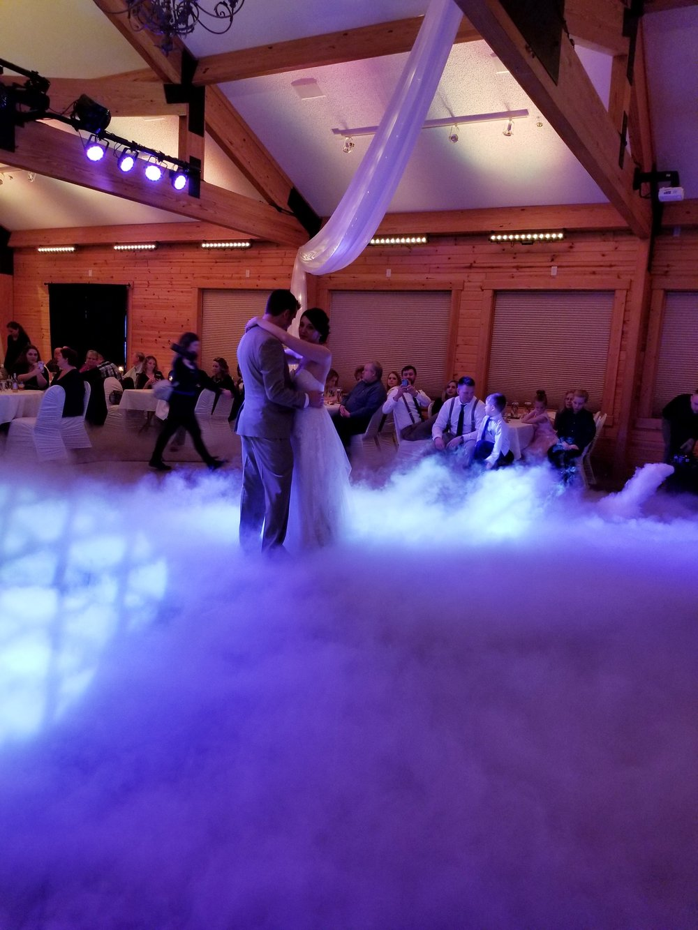 This couple enjoyed dancing on the clouds during their first dance - Entertainment provided by Grands Entertainment