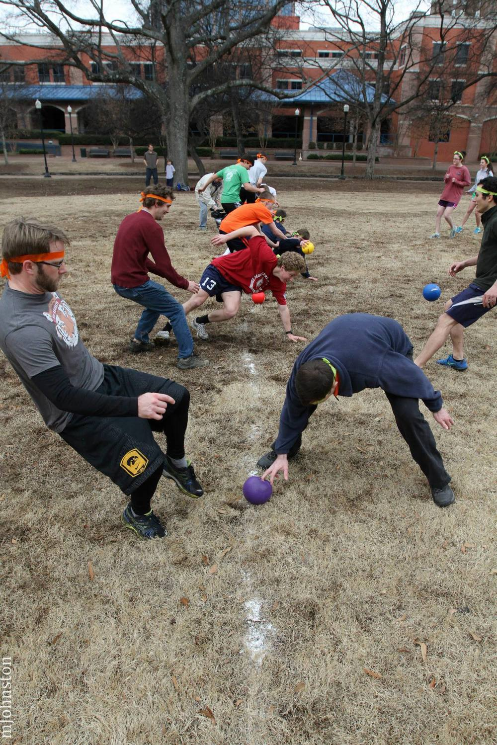 One of our Special Interest events: Dodgeball at Retro Winter Games