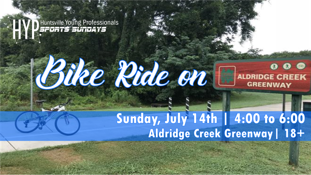 We will be cycling for sport 6 of Sports Sundays. Summer is here. What better way to enjoy it than a leisurely ride along Aldridge creek? Meet us at the Publix on Mountain Gap/Baily Cove road at 4:00 PM with your bike. Join the Facebook  Event  to stay up to date.